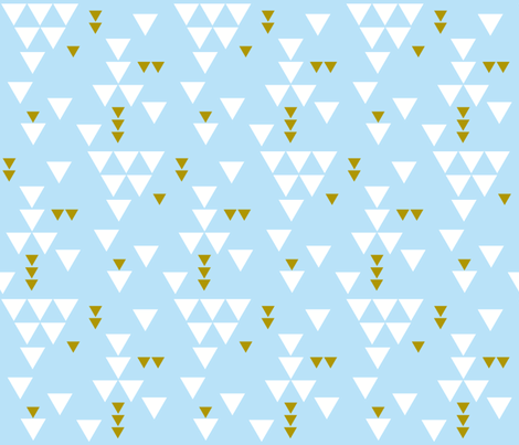 baby blue triangle fall fabric by eivie&co on Spoonflower - custom fabric