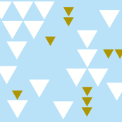 baby blue triangle fall