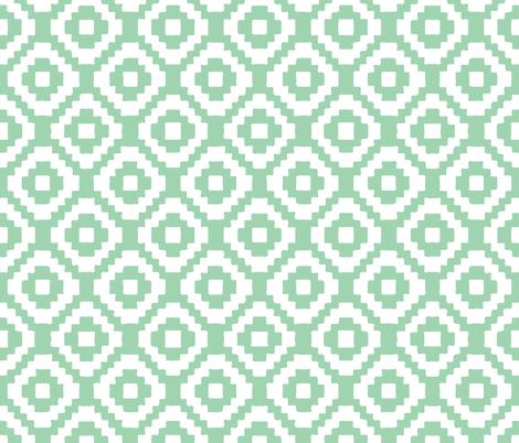 seafoam giant aztec fabric by ivieclothco on Spoonflower - custom fabric