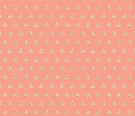 gold sparkle v. I triangles on geranium fabric by ivieclothco on Spoonflower - custom fabric