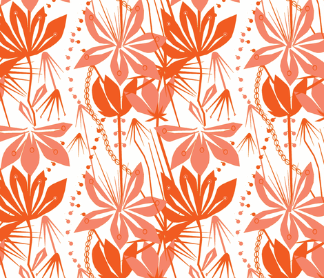 Liljat fabric by mirjamauno on Spoonflower - custom fabric