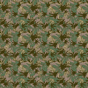 Marijuana Camo Green Woodland