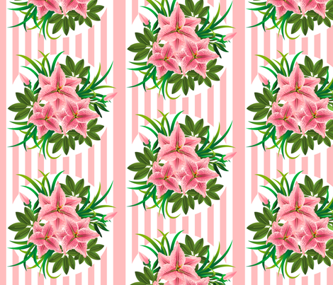 Lilies bouquets fabric by ksanask on Spoonflower - custom fabric