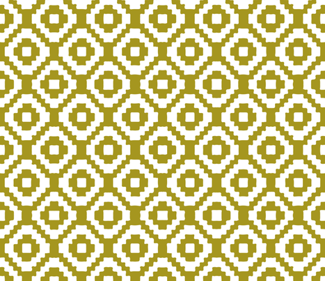 mustard giant aztec fabric by eivie&co on Spoonflower - custom fabric