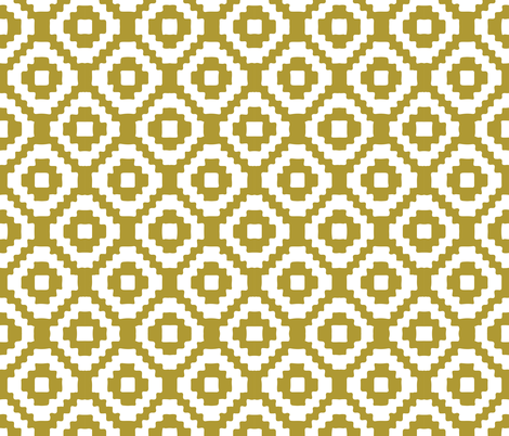mustard giant aztec fabric by ivieclothco on Spoonflower - custom fabric