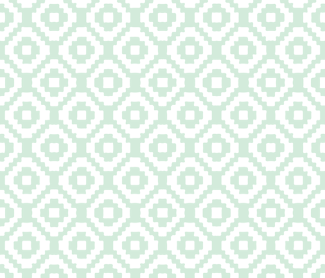 mint giant aztec fabric by ivieclothco on Spoonflower - custom fabric