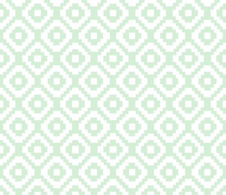 mint giant aztec fabric by eivie&co on Spoonflower - custom fabric