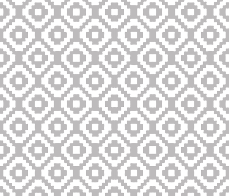 light gray giant aztec fabric by ivieclothco on Spoonflower - custom fabric