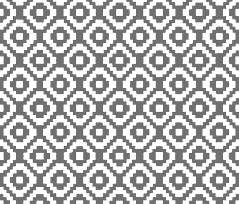 charcoal giant aztec fabric by ivieclothco on Spoonflower - custom fabric