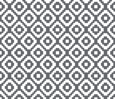 charcoal giant aztec fabric by eivie&co on Spoonflower - custom fabric