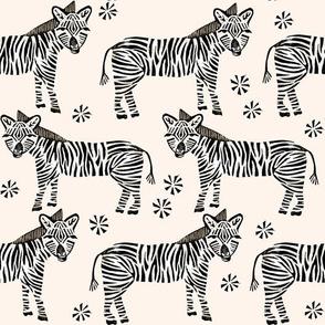 Safari Zebra - Champagne by Andrea Lauren