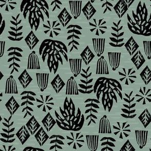 Safari Plants - Raf Blue by Andrea Lauren