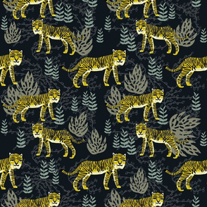 Safari Tiger - Goldenrod/Olive/Raf Blue by Andrea Lauren