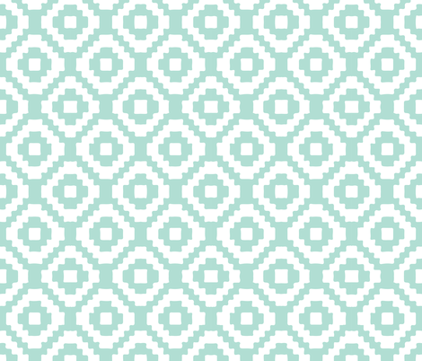 aqua giant aztec fabric by ivieclothco on Spoonflower - custom fabric