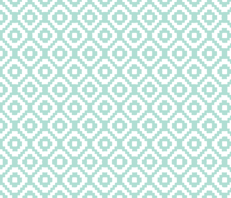aqua giant aztec fabric by eivie&co on Spoonflower - custom fabric