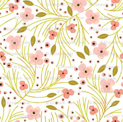 winter floral // mustard