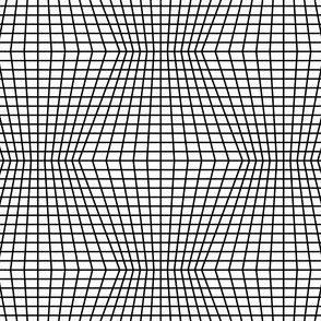 Black On White Warped Grid