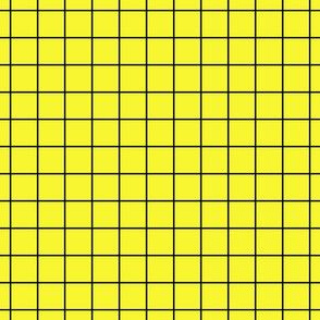 Black On Yellow Medium Grid