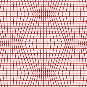 Red On White Warped Grid