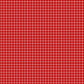 White On Red Small Grid