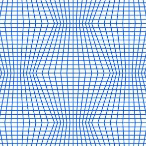 Blue On White Warped Grid