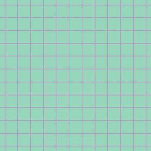 Violet On Mint Medium Grid
