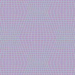 Mint On Violet Warped Grid