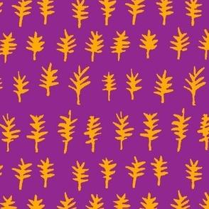 cuckoo tree (purple + gold)