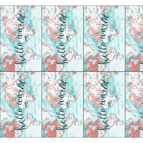 hello world burp cloths // coral