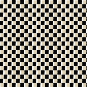 Cappuccino Cream (TAN), Black and White Boho Checkerboard