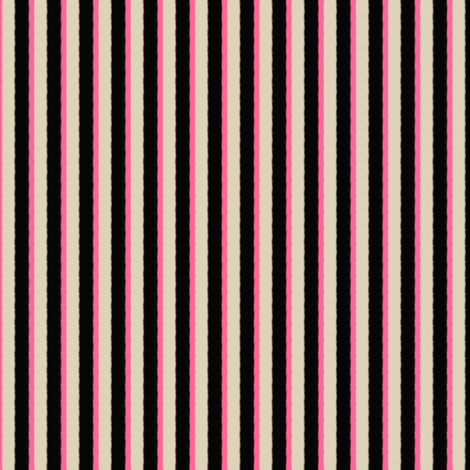 Cream Black Pink Nautical Stripe