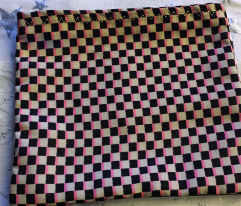 Cappuccino Cream (TAN), Black and Coral Pink Boho Checkerboard