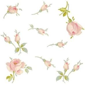 Imogen Rosebuds in Sorbet Pink