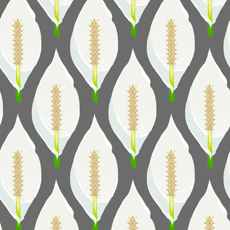 Peace Lily fabric by crumpetsandcrabsticks on Spoonflower - custom fabric