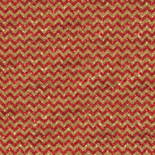 Sparkle Chevron- Small- Gold and Red