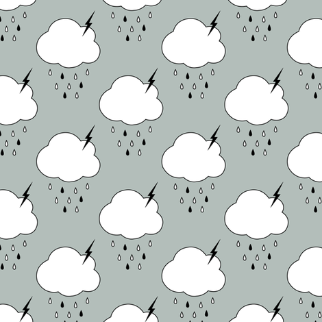 Storm Clouds fabric by sierra_gallagher on Spoonflower - custom fabric