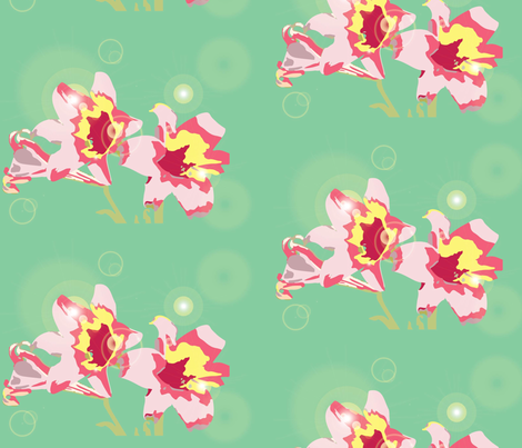 Easter Lily - Mute Pastel fabric by campjam on Spoonflower - custom fabric