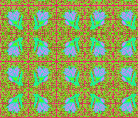 Lovin' Some Lilies   fabric by swirly_girlz on Spoonflower - custom fabric