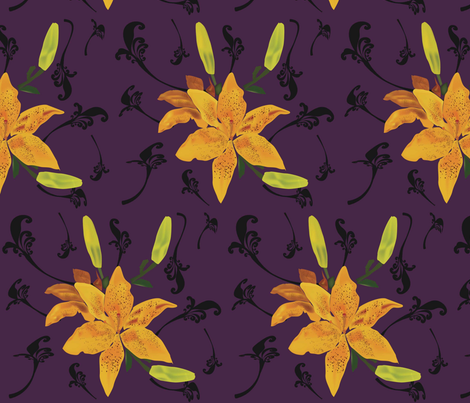 Royal-Lilies fabric by mjenigma71 on Spoonflower - custom fabric