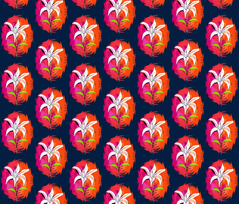 My Lily - Colour Punch fabric by eclectiquexx on Spoonflower - custom fabric