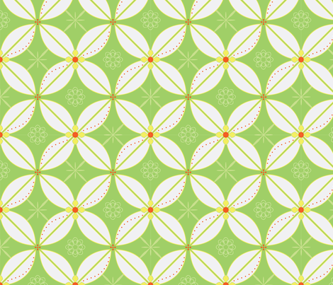 Geometric Lilies fabric by goodluckhoney on Spoonflower - custom fabric