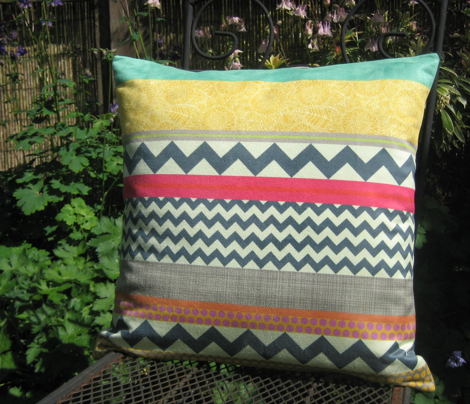 "New York Beauty stripe 18"" pillow fronts"