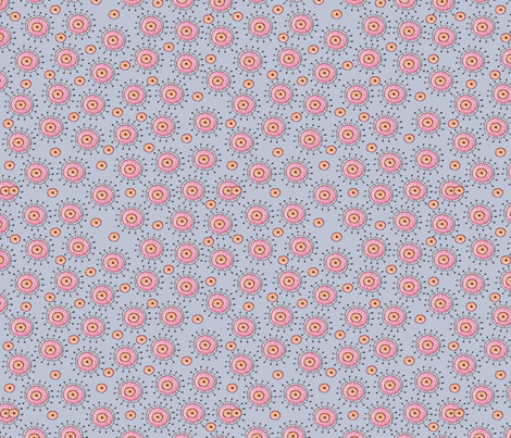 Alien floral periwinkle fabric jennifer geldard for Alien fabric