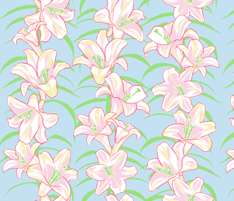 Easter Lilies  fabric by horn&ivory on Spoonflower - custom fabric