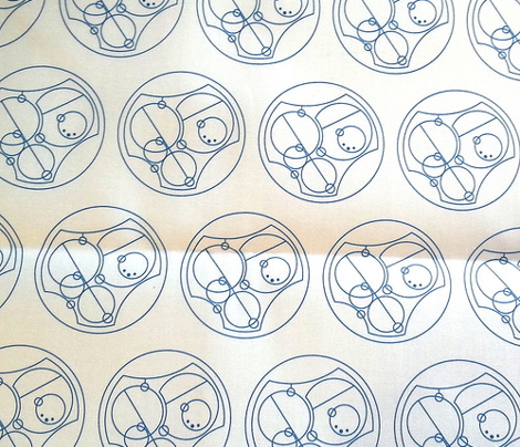 I love you in Gallifreyan - Blue on White - large