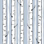 winter birch stripe