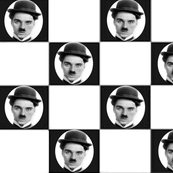 CHARLIE CHAPLIN CHECKERS
