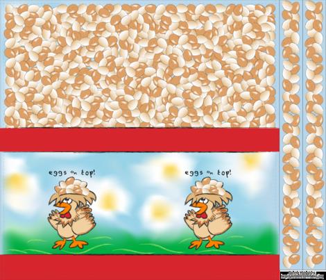 Eggs on Top! Shopping Bag fabric by kittymackey on Spoonflower - custom fabric