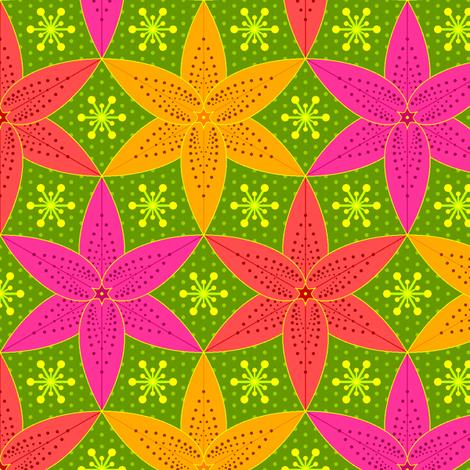 lilium 3 fabric by sef on Spoonflower - custom fabric