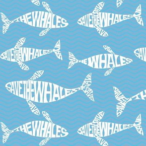 Save the whales, lighter blue